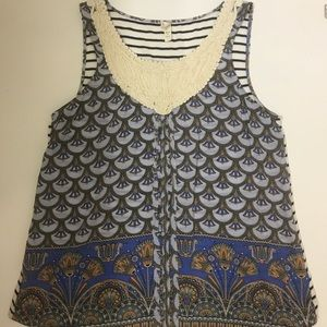 Anthropologie Tiny Pattered Tank Top Size Small